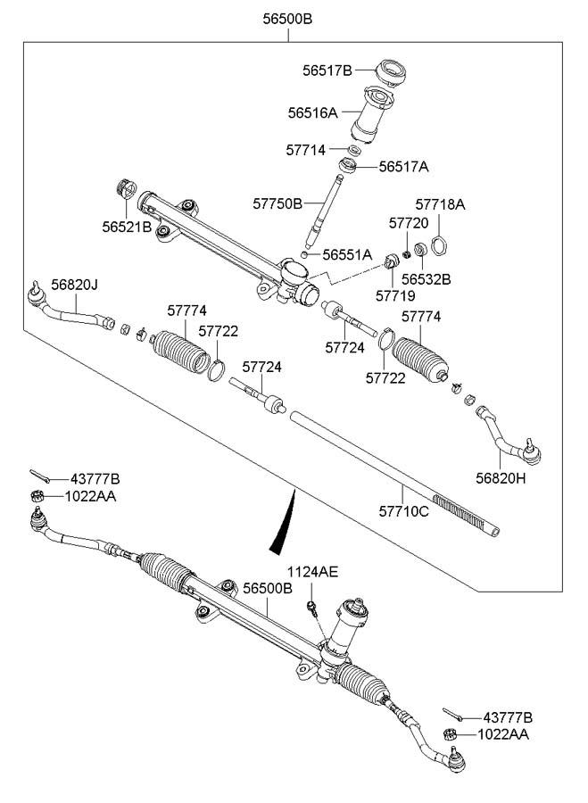 hyundai power steering gear box