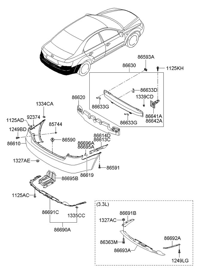 hyundai elantra rear suspension parts