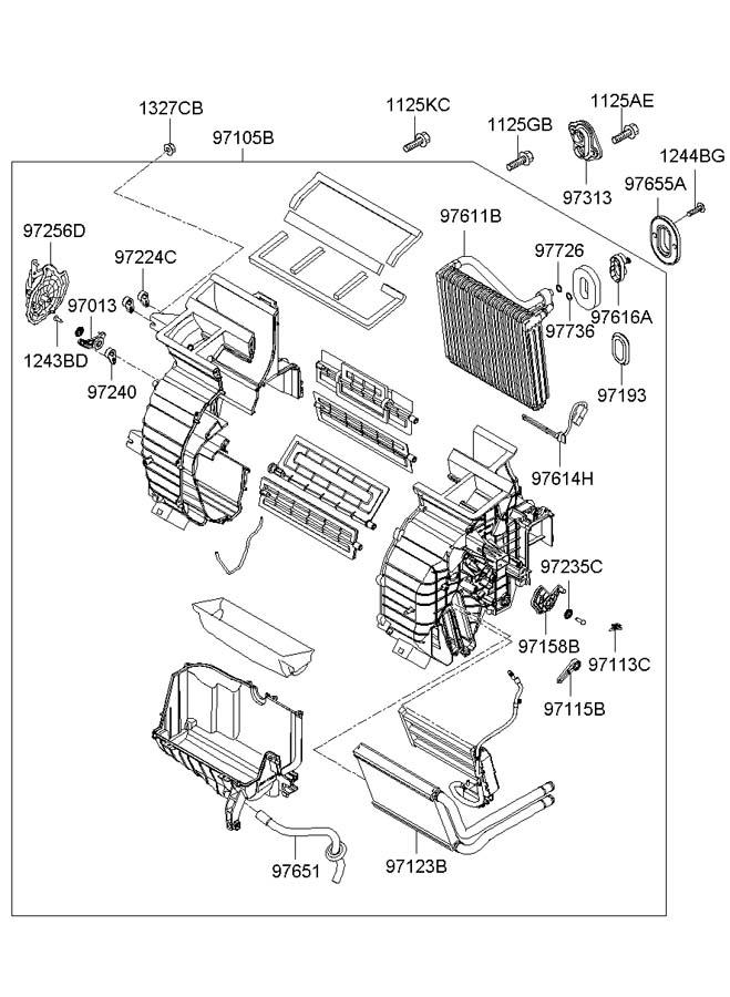 2007 hyundai accent heater system