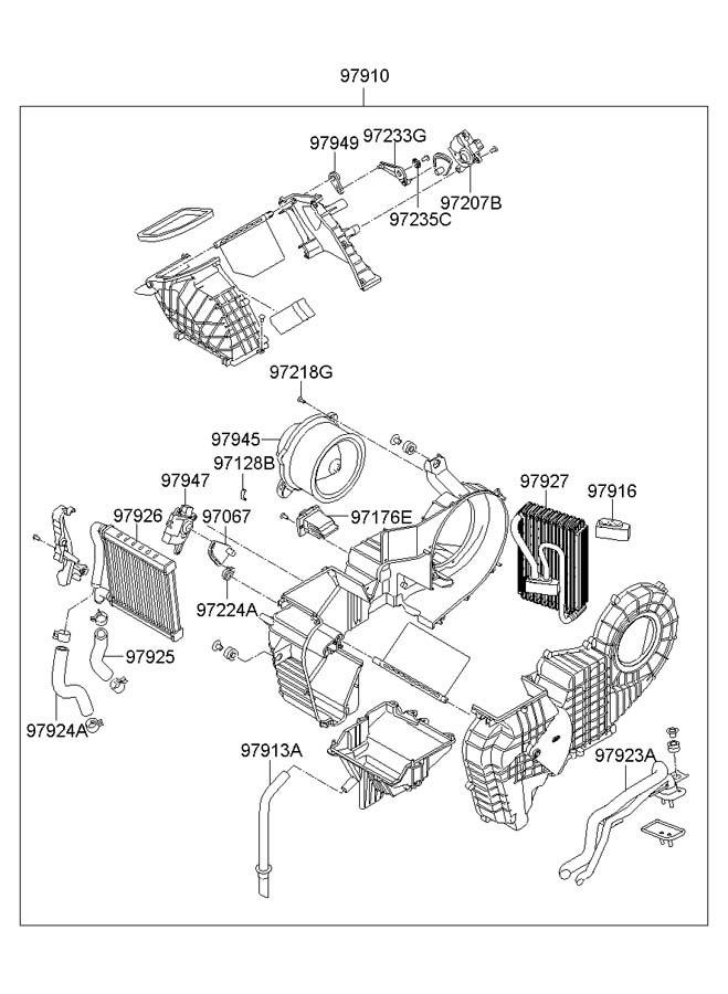 hyundai air conditioning a c system rear With hyundai sonata ac