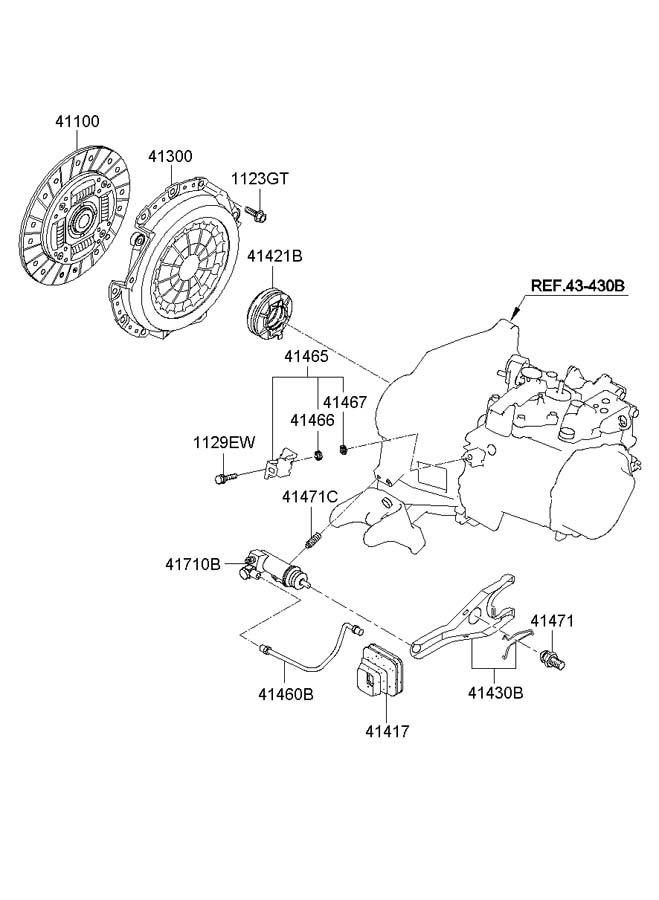 2003 hyundai accent clutch release fork manual transmission. Black Bedroom Furniture Sets. Home Design Ideas
