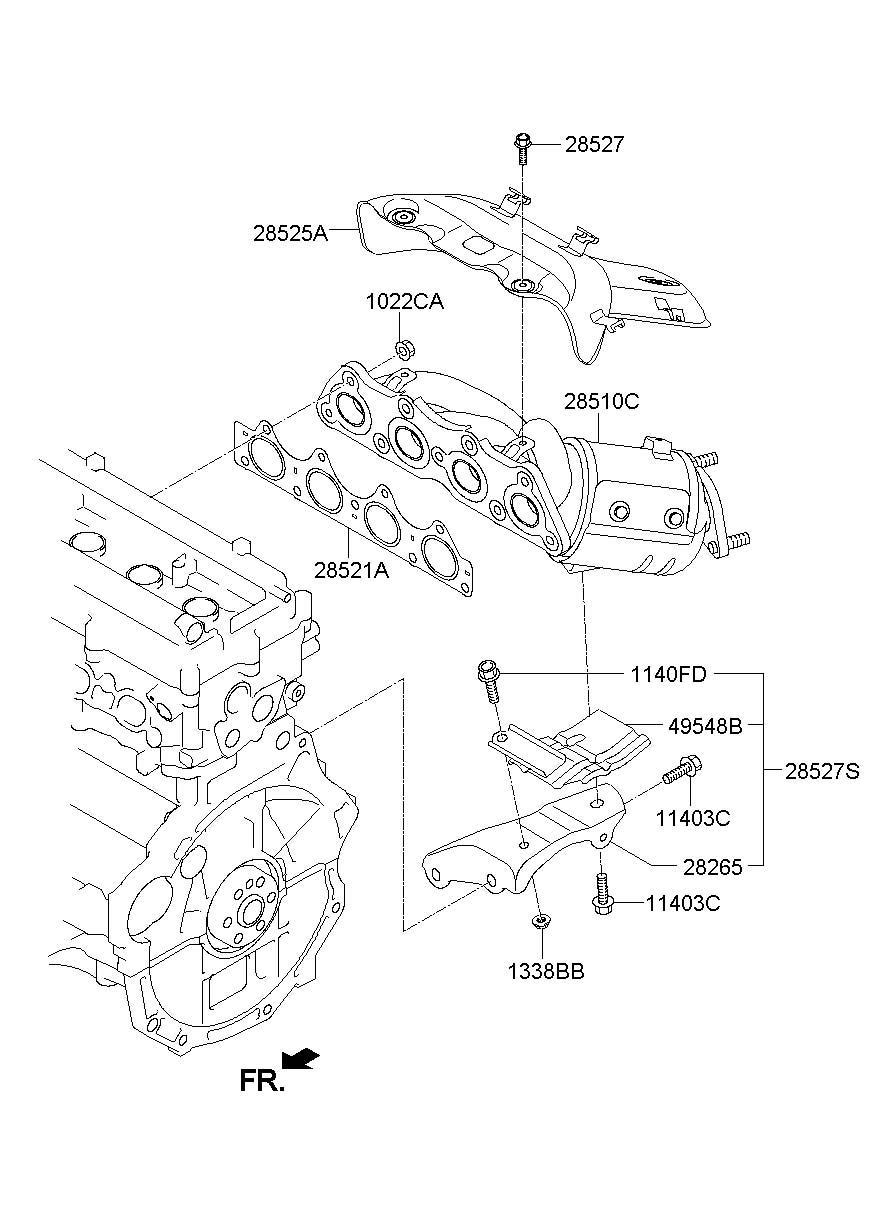 9097CH03 Timing Belt Cover additionally Hyundai Accent Engine Diagram Knock Sensor further ShowAssembly furthermore ShowAssembly also 2010 Hyundai Sonata Engine Diagram. on 2013 hyundai accent oil change