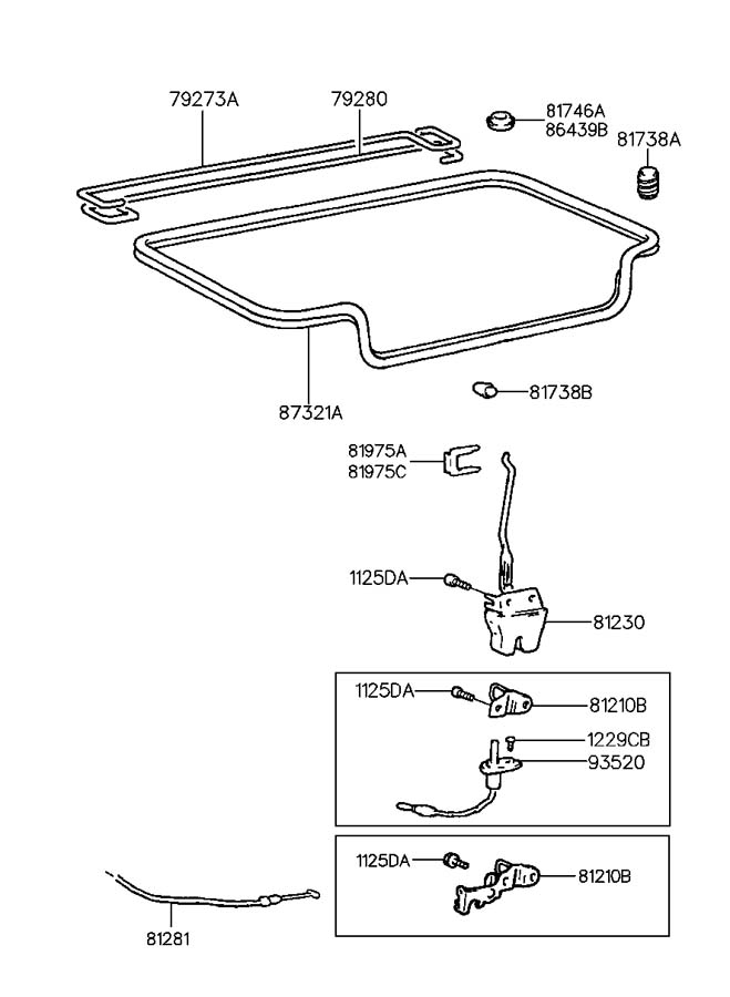 how to fix 1997 hyundai accent trunk latch