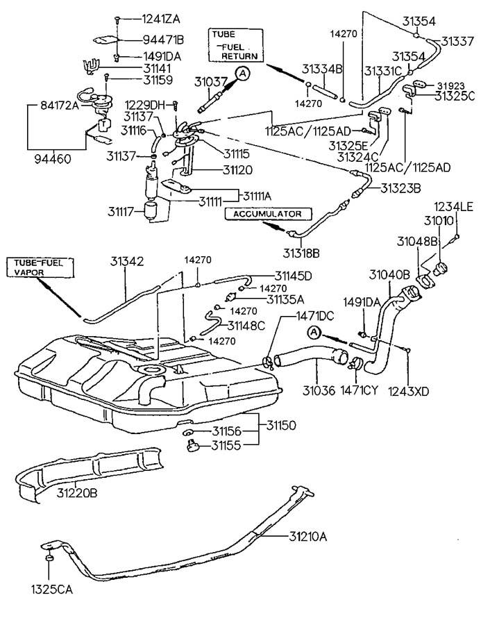 2000 hyundai sonata fuel tank. Black Bedroom Furniture Sets. Home Design Ideas