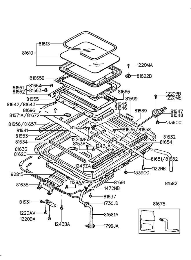 service manual  1994 hyundai excel sunroof repair