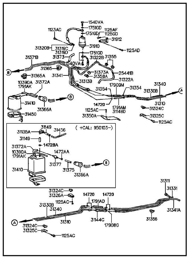 hyundai fuel lines mfi